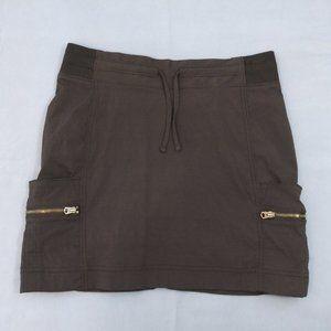Athleta size 2 black skort w/ metal zipper pockets